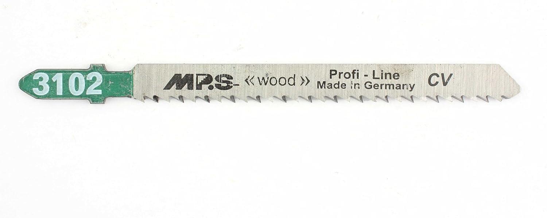 5 MPS CV Stichsä geblä tter 3102 - Stichsä geblä tter fü r Holz - Einsetzbar wie Bosch T101BR