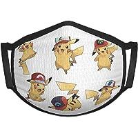 KNJF Pokemon Sun Grey Pikachu Máscara reutilizable para niños y niñas, pasamontañas, lavable al aire libre cubierta de…