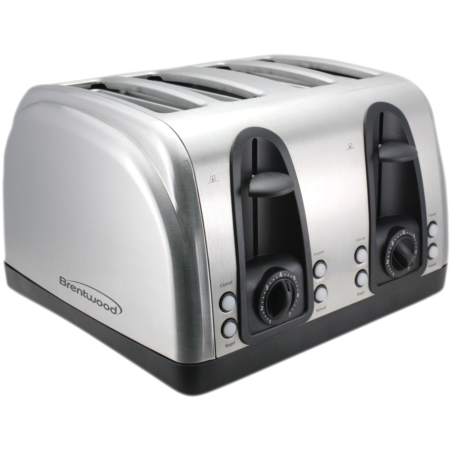 Brentwood TS-445S Toaster Extra Wide Slot, 4 slice, Stainless Steel