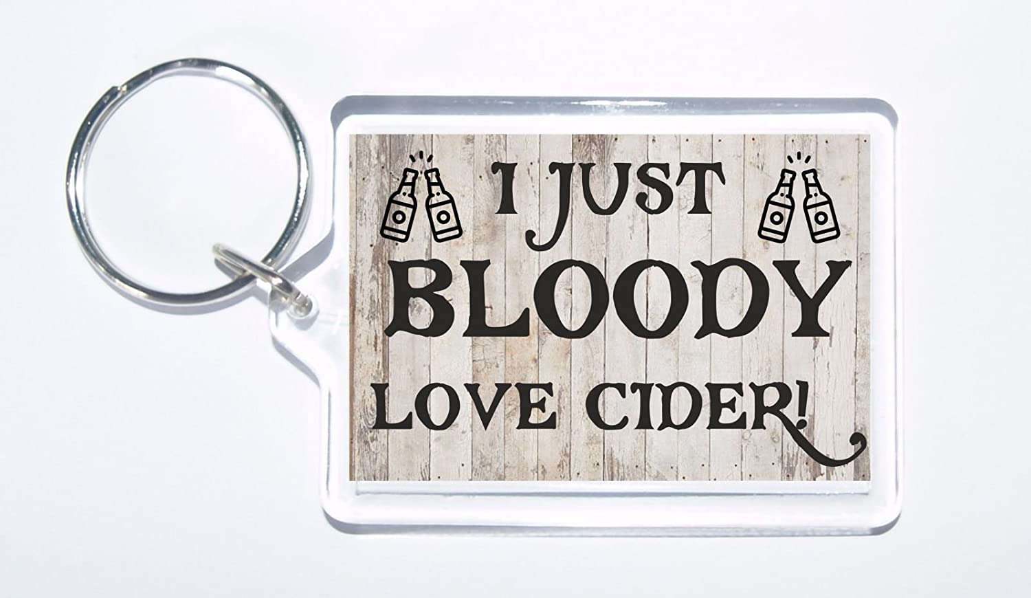 Ideal Gift For Birthday//Christmas I Just Bloody Love Cider Novelty Keyring