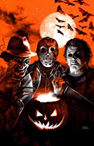 Scream Team Poster Jason Voorhees Freddy Krueger Michael Myers Horror Movie Vertical Poster | Funny Gift for Home Decor Wall Art Print Poster | Full Size 12x18 16x24 24x36 27x40 | Halloween Poster