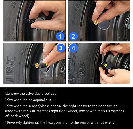 Mnioky Tpms Tyre Pressure Monitoring System Auto