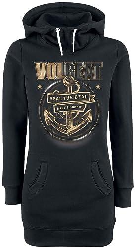 Volbeat Anchor Jersey con Capucha Mujer Negro