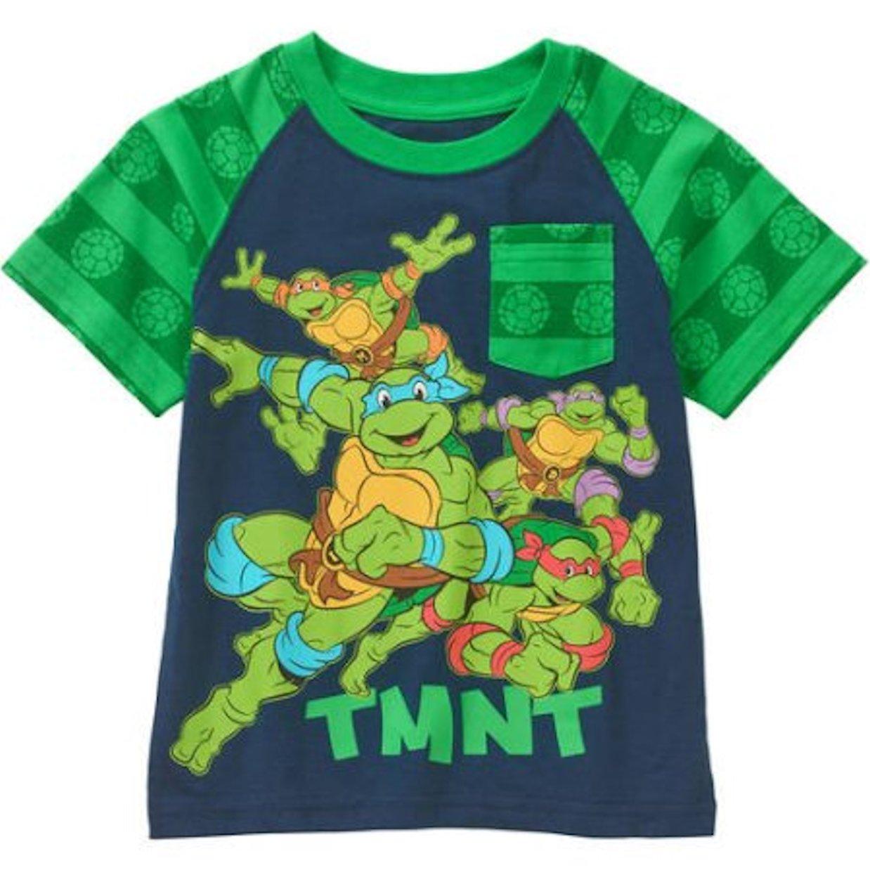 acbd0f0b0 Amazon.com: Toddler Boys Teenage Mutant Ninja Turtle Pocket Tee Shirt-Size  2T-4T: Clothing