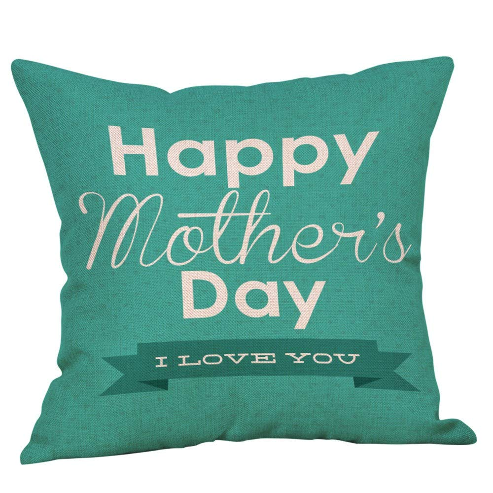 Pillow case Protector with Zipper,EOWEO Happy Mothers' Day Pillow Cases Sofa Cushion Cover Home Decor Pillow Case(45cm×45cm,Multicolor-A)