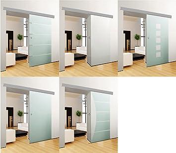 Puerta Corredera de Cristal de la puerta corredera puerta corrediza Puerta de Cristal puerta Interior habitaciones Puerta Oficina para puerta: Amazon.es: Bricolaje y herramientas