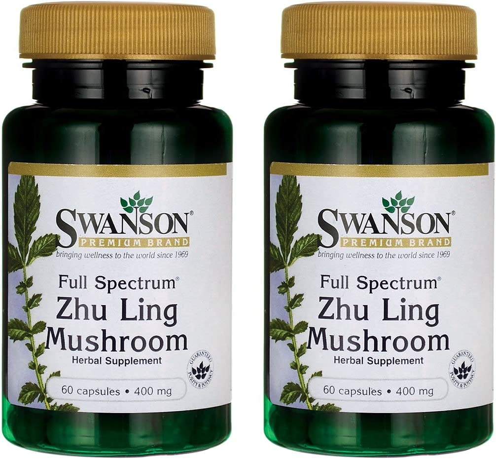 Swanson Full Spectrum Zhu Ling Mushroom 400 Milligrams 60 Capsules 2 Pack