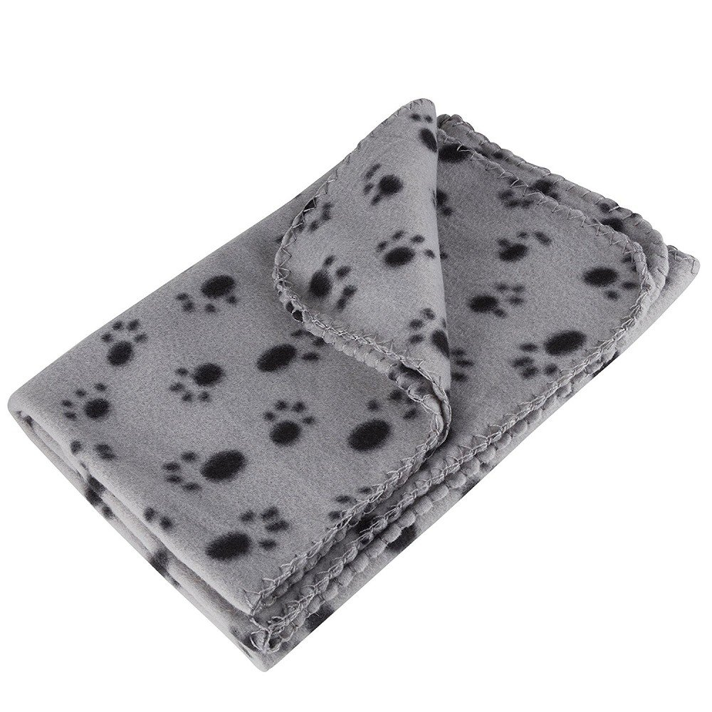 Couverture douce RionnTM/-/Pour chien et chat/-/Motif empreintes de pattes/-/80/x/120/cm