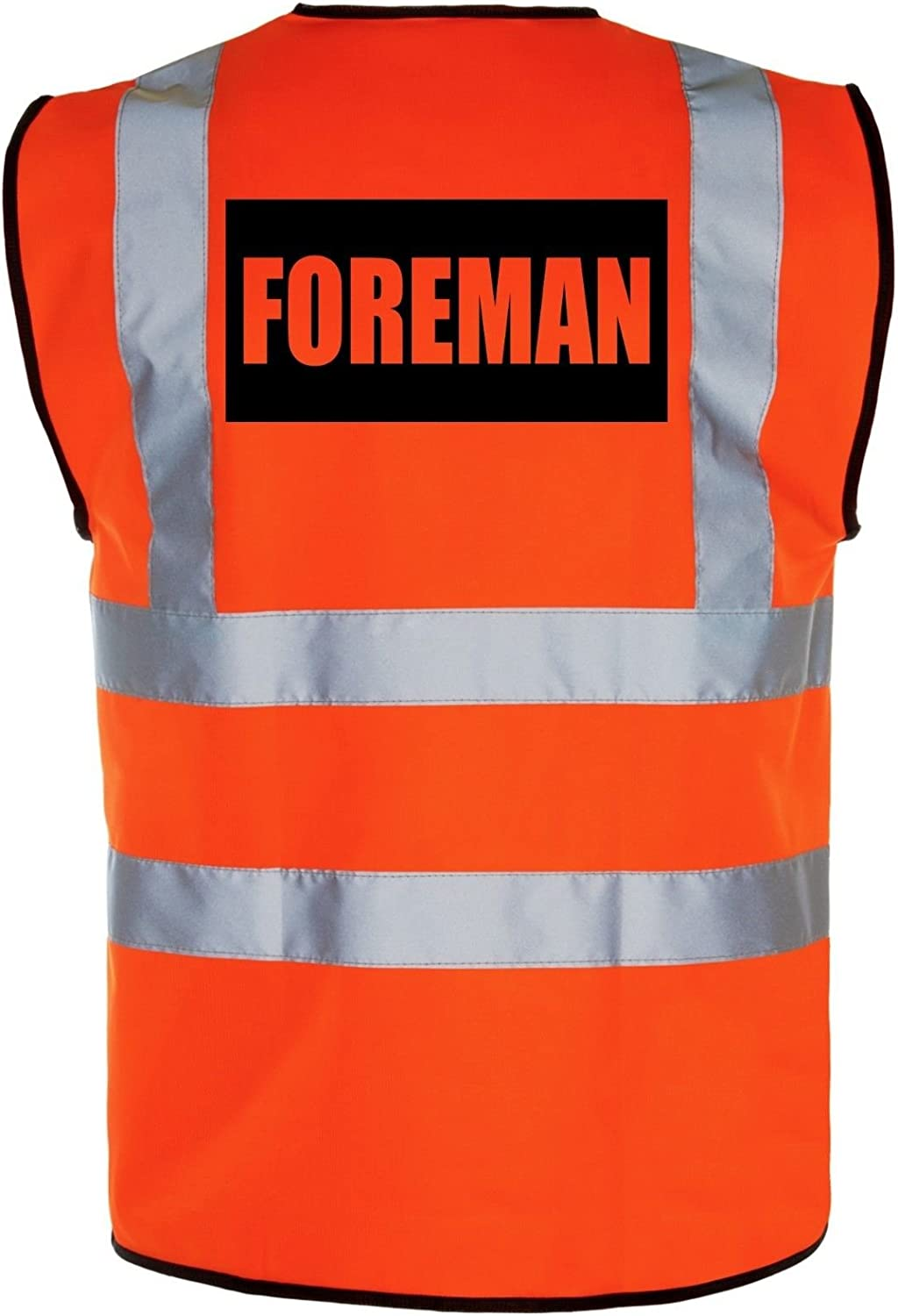 Yellow//Orange Hi-Vis High-Viz Visibility Safety Vest//Waistcoat Foreman
