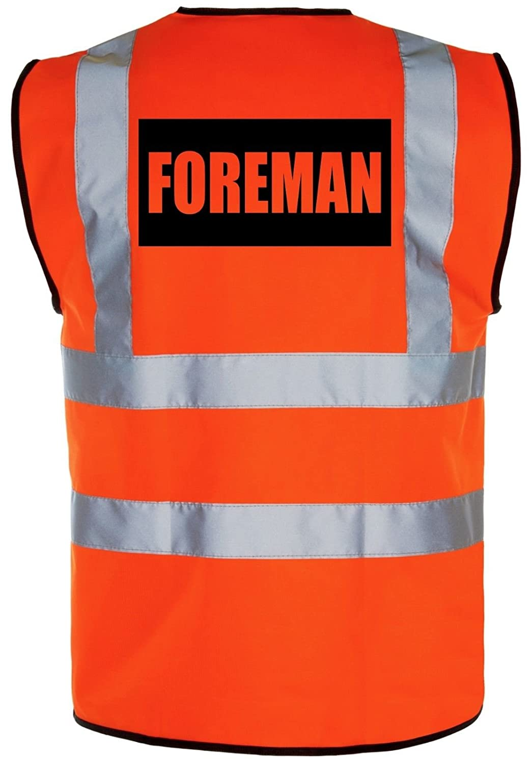 FOREMAN - Hi-Vis High-Viz Visibility Safety Vest/Waistcoat | Yellow/Orange Supertouch