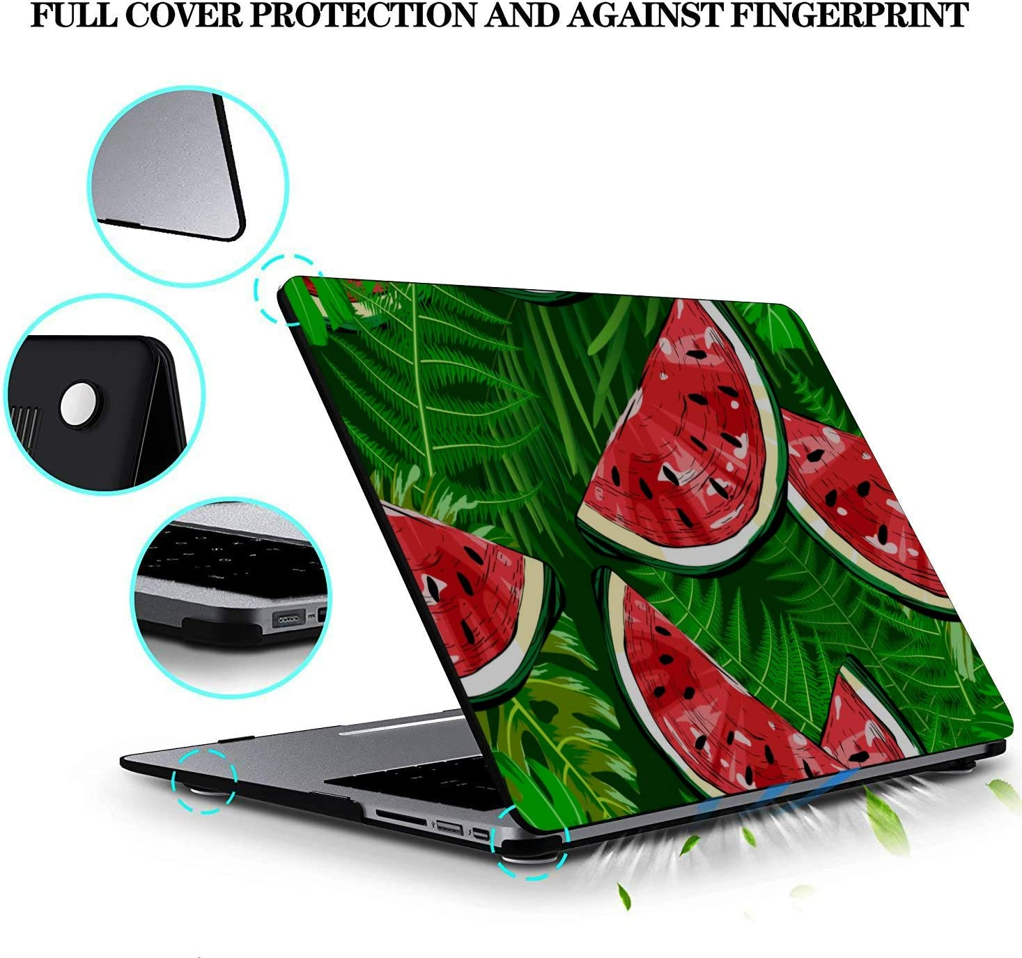 MacBook Pro 13 Cover Summer Fashion Cute Fruit Watermelon Plastic Hard Shell Compatible Mac Air 11 Pro 13 15 Laptop Case Protection for MacBook 2016-2019 Version