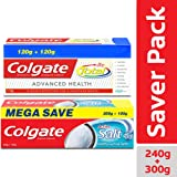 Colgate Total Advanced Health Anticavity Toothpaste - 240g with Colgate Active Salt Toothpaste - 300gm