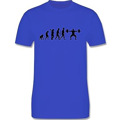 Evolution - Gewichtheber Evolution - Herren T-Shirt Rundhals ...