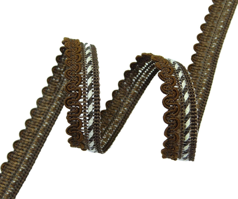 Met/álico de costura ajuste de la trenza de 12,7 mm de ancho Suministro puntilla a elaborar por 18 yardas