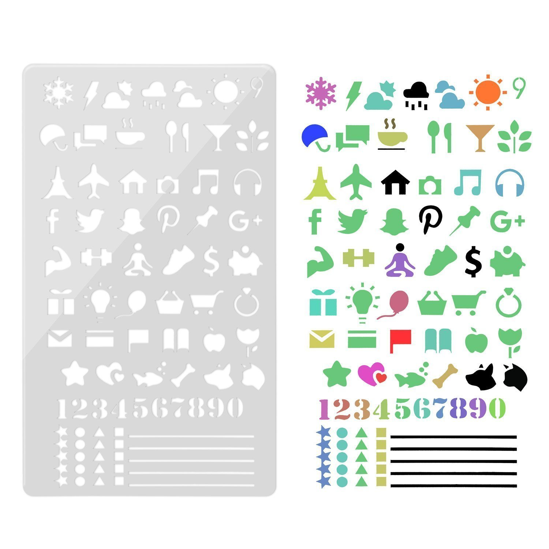 Amazon.com: Plantillas de dibujo para planificador de diario ...