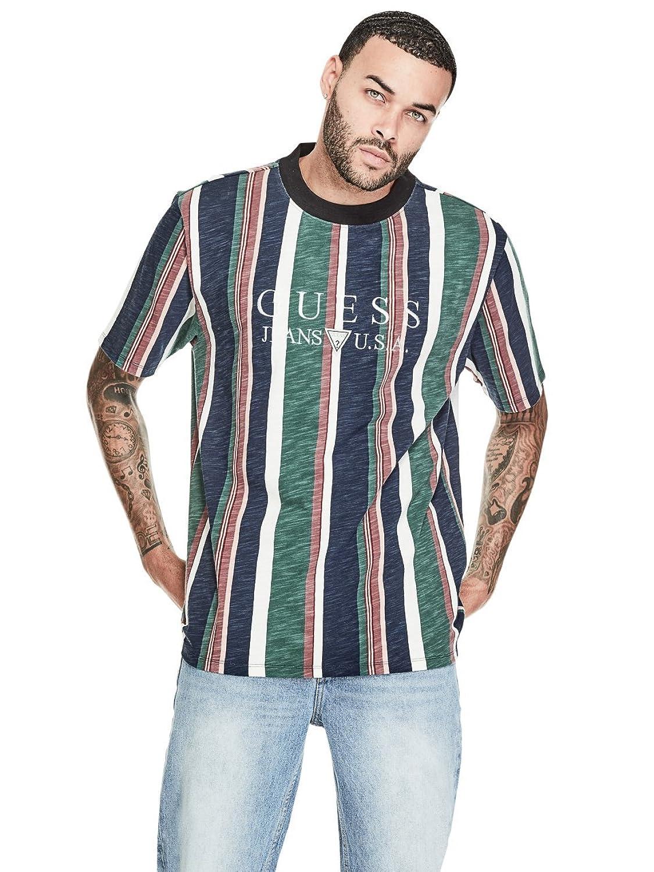 da3dc2001d Guess Jeans Striped Shirt Xxl - raveitsafe