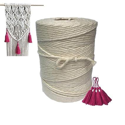 Cuerda de hilo de macramé de algodón para colgar en la pared 08abec123ef
