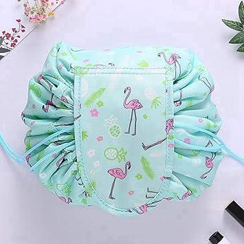 74fb01809b97 Amazon.com   Happy Mart Cosmetic Bag Professional Drawstring Makeup Case  Women Travel Make Up Organizer Storage Pouch Toiletry Wash Kit (Green)    Beauty