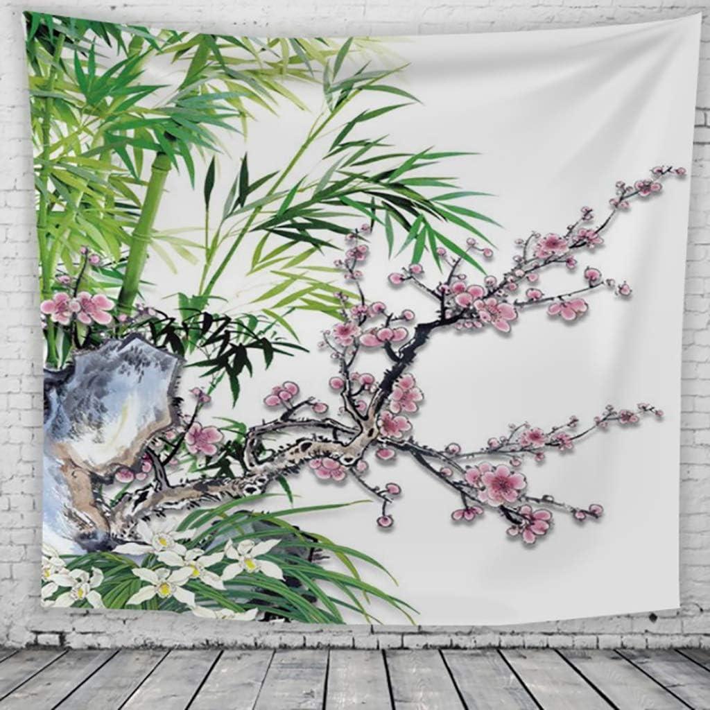 GT-Tapisserie Encre Peinture Tapisserie Japonais Prune Impression 3D B/âche Tapisserie Mur Couverture Salon Chambre D/écoration Tissu Fond Serviette De Plage Color : A, Size : 130 * 150cm