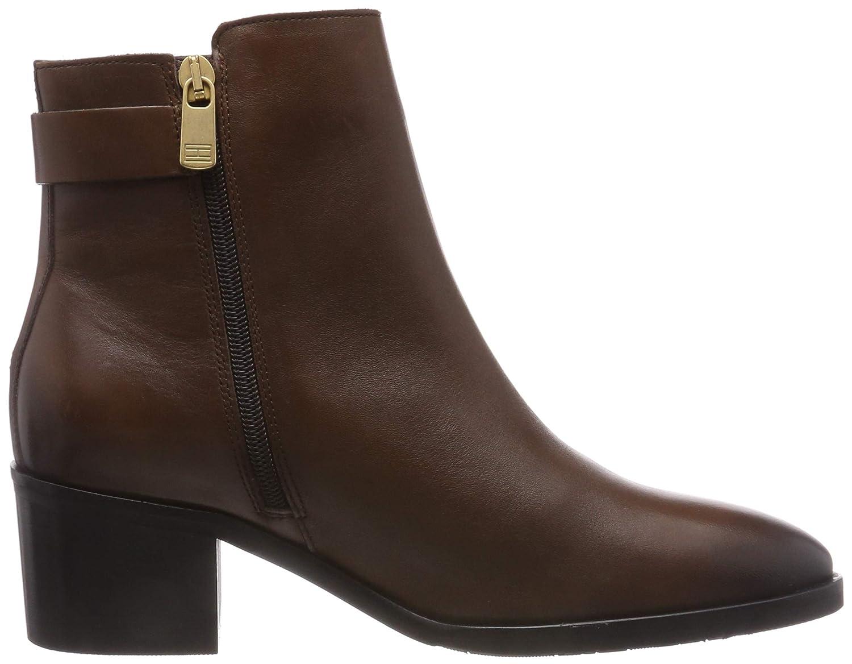 Tommy Hilfiger Damen TH Buckle Mid Heel (Coffee Boot Leder Stiefeletten Braun (Coffee Heel 211) 762ef5
