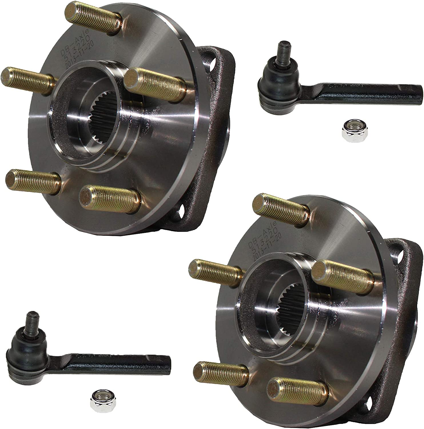 Front Wheel Hub /& Bearing Pair Set for 05-11 Legacy Outback