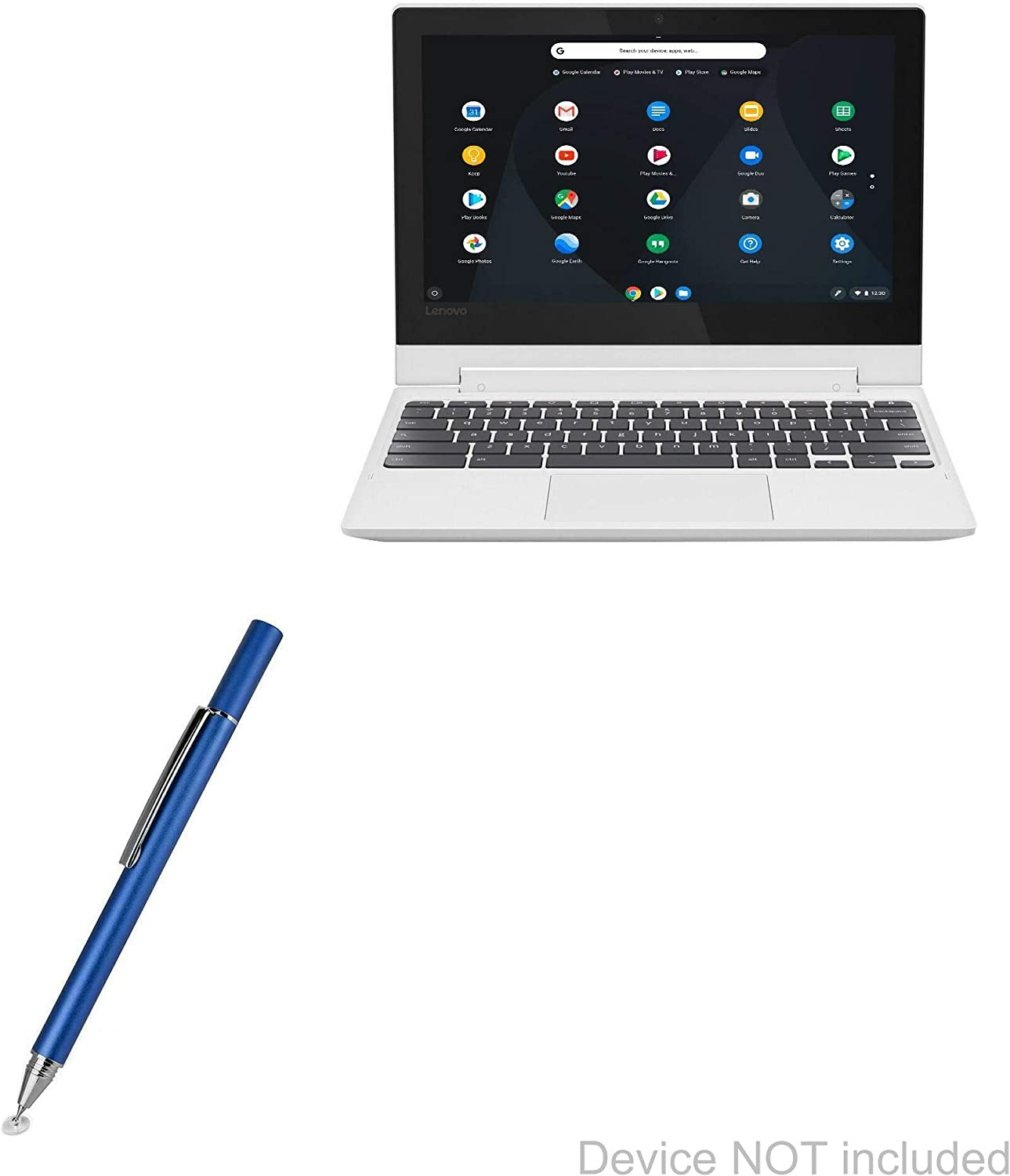 "Lenovo C330 Convertible 2-in-1 Chromebook (11.6"") Stylus Pen, BoxWave [FineTouch Capacitive Stylus] Super Precise Stylus Pen for Lenovo C330 Convertible 2-in-1 Chromebook (11.6"") - Lunar Blue"