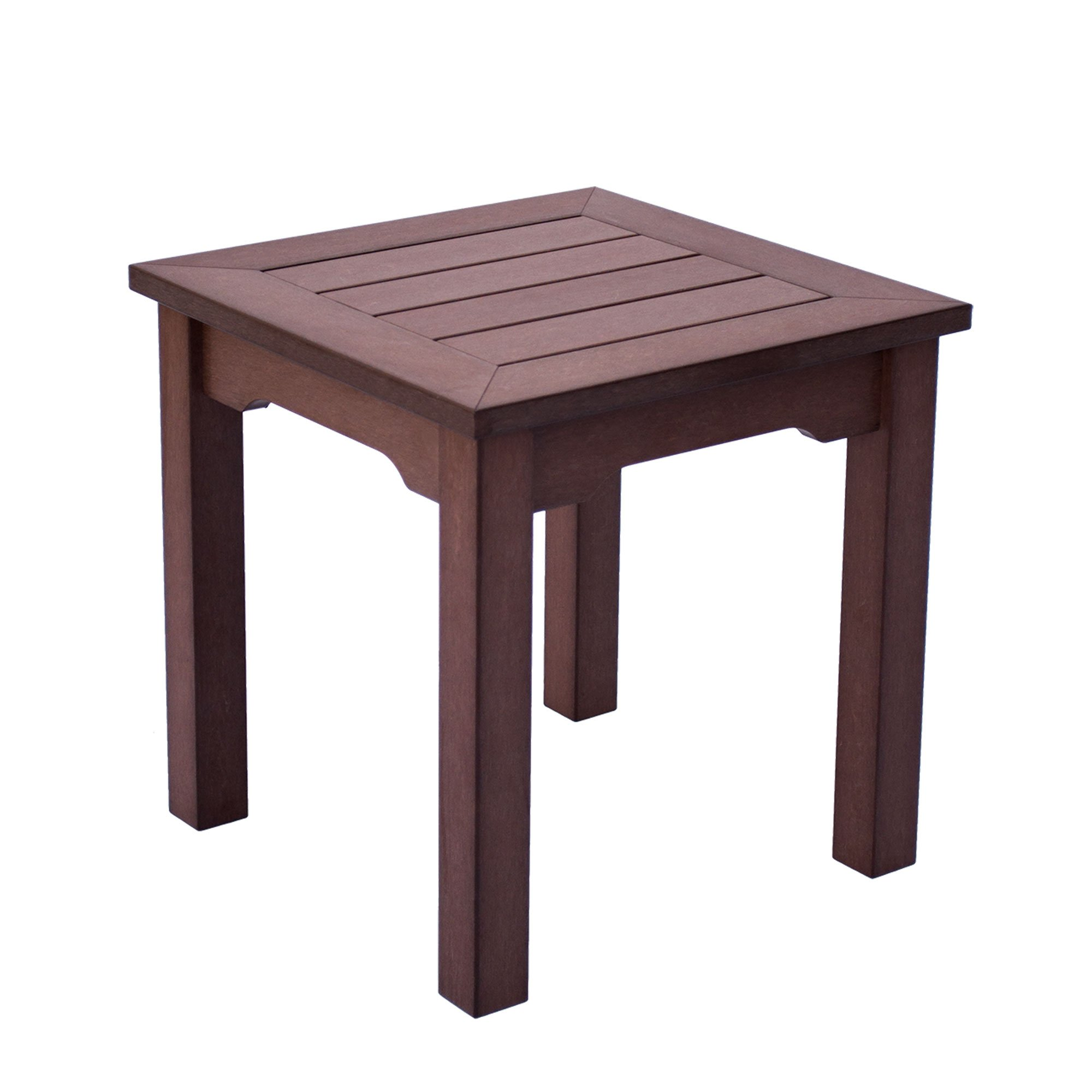 Shine Company 7107CB Square End Side Table, Chateau Brown