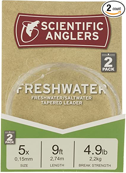 Scientific Anglers Freshwater Tapered 9 ft 20LB 2 Pack Leader