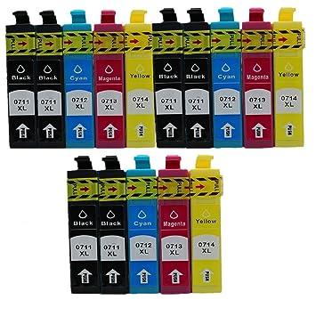 No-Name Cartuchos de Tinta de Repuesto para Epson E-0711 T0711 ...