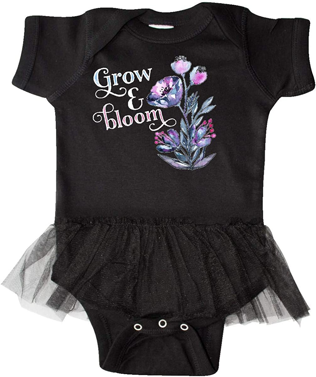 inktastic Grow and Bloom with Painted Flowers Infant Tutu Bodysuit