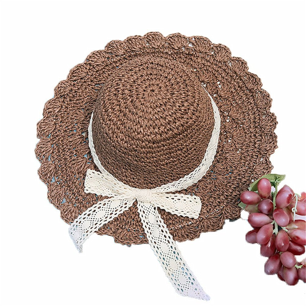 Amazon.com  Dig dog bone Women s Hat Bowknot Pure Color Spring Summer Straw  Hat Sunblock Sun Hat  Sports   Outdoors 014404a2df2c