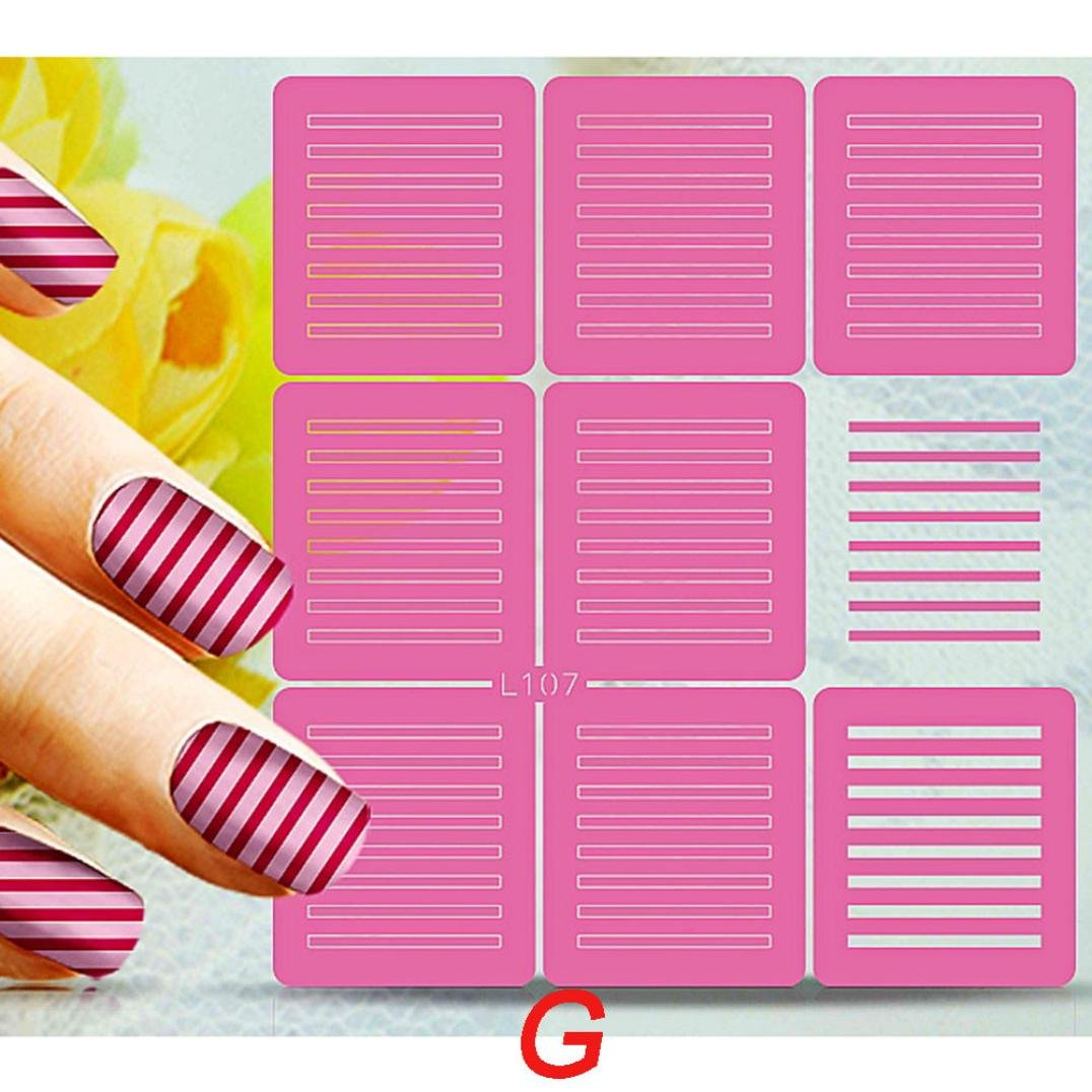 â¤JPJ(TM)❤️ Beauty Nail Stickers,Nail Art Stickers,Creative Nail Art Transfer Stickers Manicure Tips Nail Polish Decal DIY Art Decor Best Decoration For Your Nails (G)