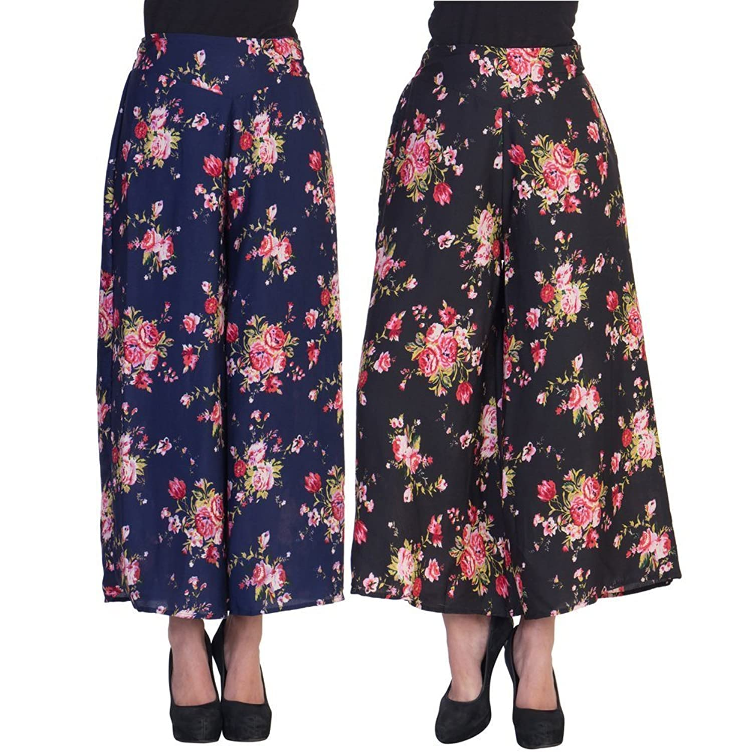 2Day Women's Stylish Palazzo And Base Floral Print (Pack of 2)