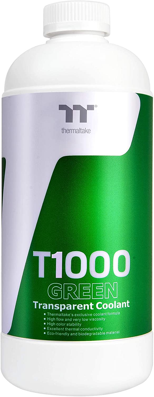Thermaltake T1000 1000ml New Formula Green Transparent Coolant Anti-Corrosion Anti-Freeze Minimize Precipitation CL-W245-OS00GR-A