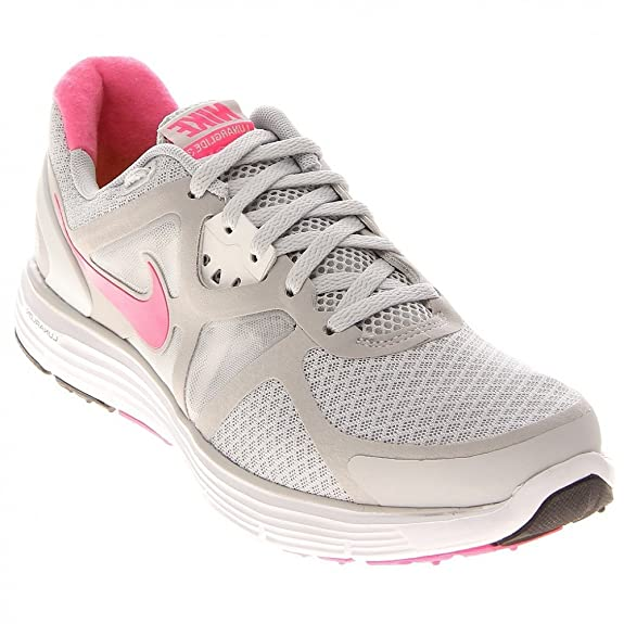 new product 18cca ed05d ... Nike Lunarglide+3 Womens Running Shoes 454315-061 Pro PlatinumPink  Flash-White- ...