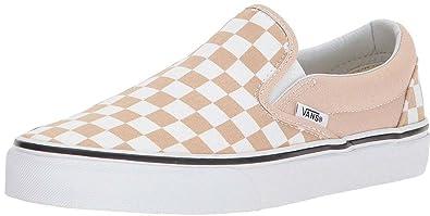 5d38bc07be Vans Classic Frappe White Canvas Unisex Slip-On Trainers Shoes-4 ...