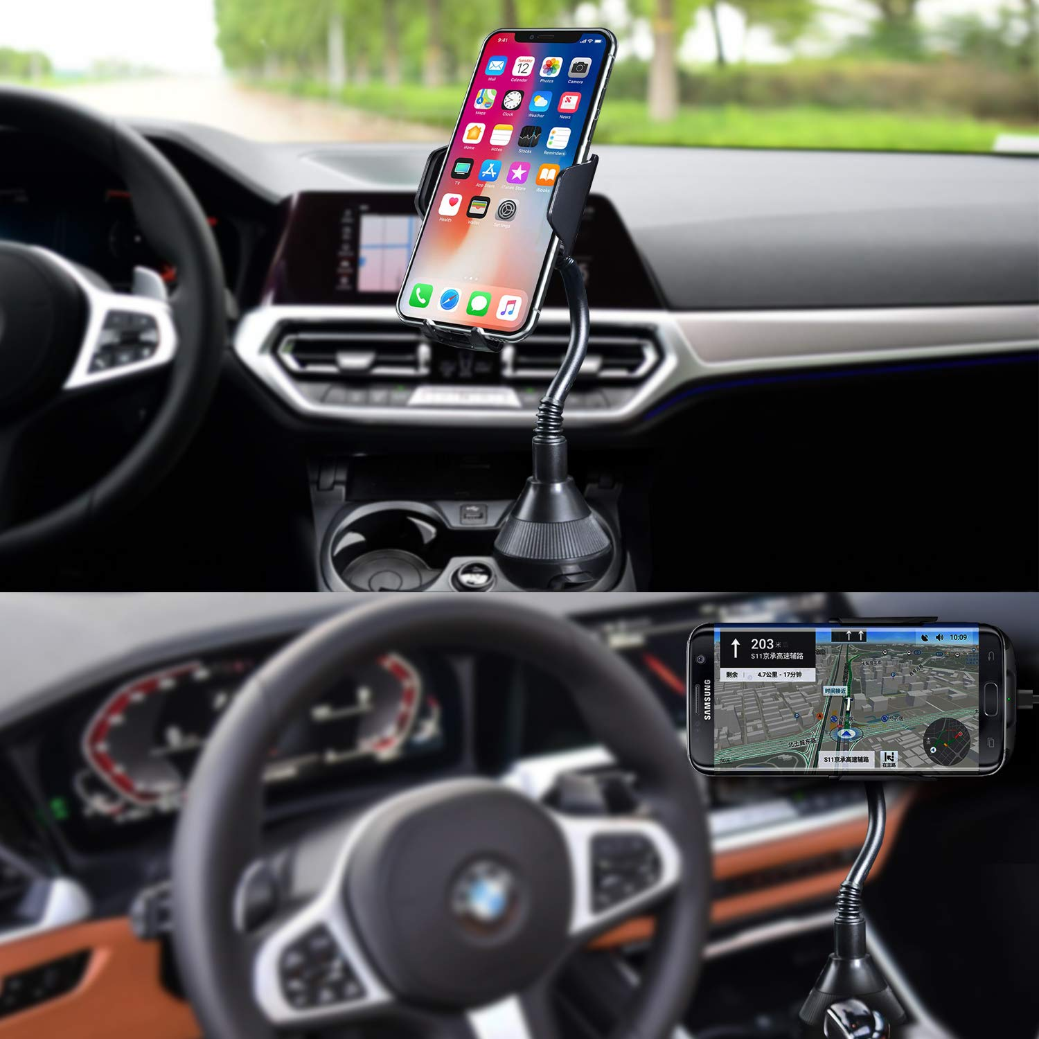 MQOUNY Car Wireless Charger,360 Degree 10w Qi Fast Wireless Charging Cup Phone Holder /& Air Vent Car Phone Mount Compatible with with iPhone 11//11Pro Max//XR//Xs Max//Xs//8,Samsung Galaxy Note 10 Black