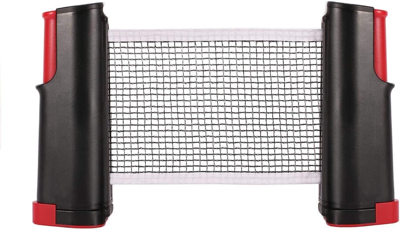 lahomie Red de Pingpong, Portátil Retráctil Table Tennis Net Red de Ping-Pong para Entrenamiento Longitud Ajustable Profesional Fácil Configuración para Ping Pong Fácilmente