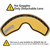 ZIONOR iSki 1X Ski Goggles with Spherical Detachable Dual-Lenses UV400 Protection Anti-fog Mirror Coating Helmet Compatible Adjustable Strap for Ski, Snowboard, Snowmobile