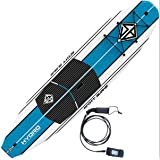 "Scott Burke 10'6"" Hydro Stand-Up Paddleboard Package, White/Blue"