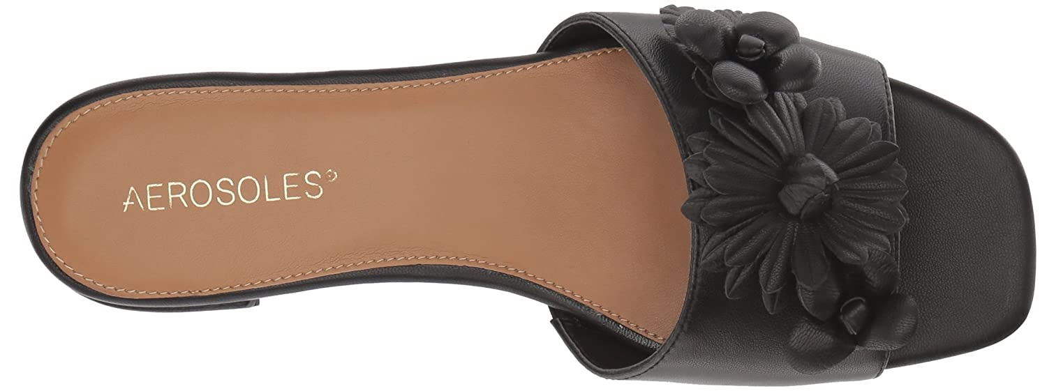 Aerosoles Women's Pin Down M Slide Sandal B076BVZSMB 6.5 M Down US|Black Leather fb2a01