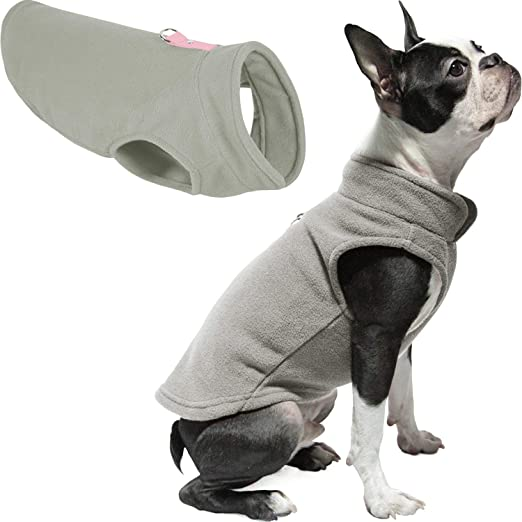 Gooby Dog Fleece Vest - Pullover Dog Jacket with Leash Ring - Winter Small Dog Sweater - Warm Dog Clothes for Small Dogs Girl or Boy for Indoor and Outdoor Use