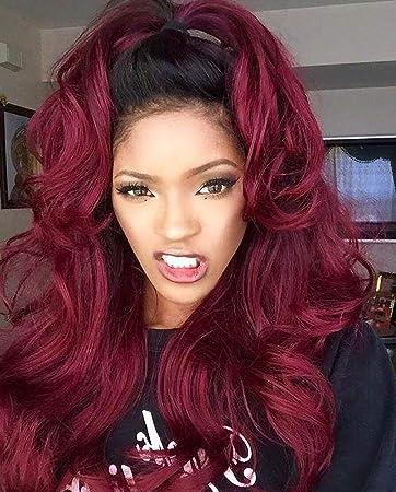 Amazon Com Leomi 1b 99j Ombre Natural Wave Human Hair Full Lace