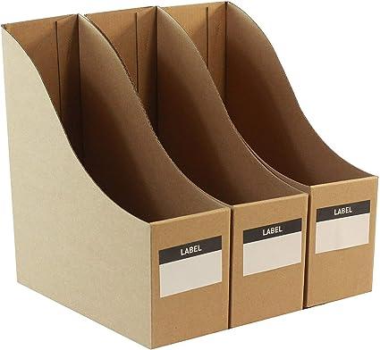 Portadocumentos de cartón para documentos, organizadores de escritorio, juego de 3: Amazon.es: Oficina y papelería