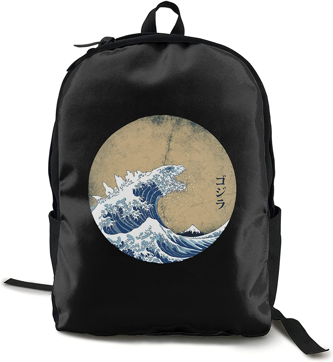 Hokusai Cthulhu Business Travel Laptop Backpack Travel Backpack Classic Computer Bag