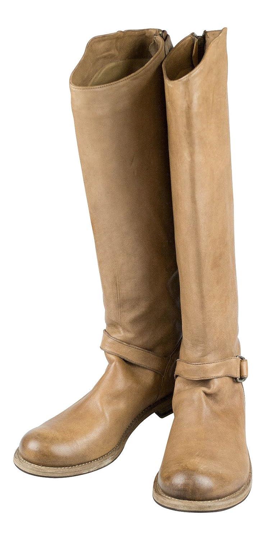 Brunello Cucinelliブラウンレザーニーハイブーツ靴サイズ11 / 41   B01NAAJYDI