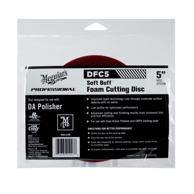 Meguiar`s ME DFC5 Soft Buff Foam Cutting Disc 5 pour Dual Action Polisher AutoStyle