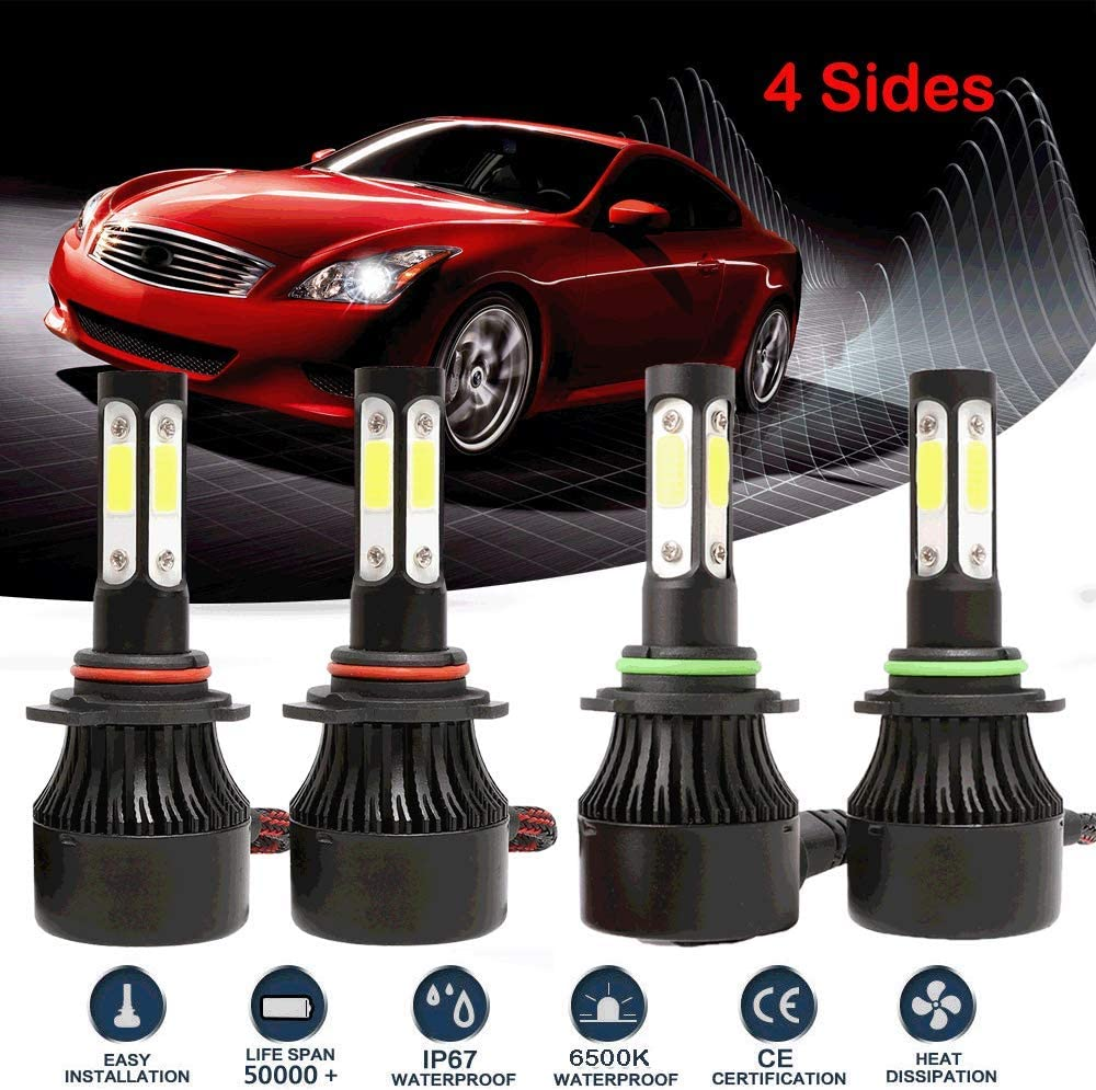 9006 HB4 LED Headlight kit 6000K for 1999-2006 Chevrolet Silverado 2500 Low Beam