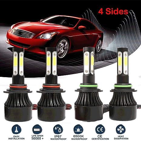 Amazon.com: 9005 + 9006 Bombillas LED para faros delanteros ...