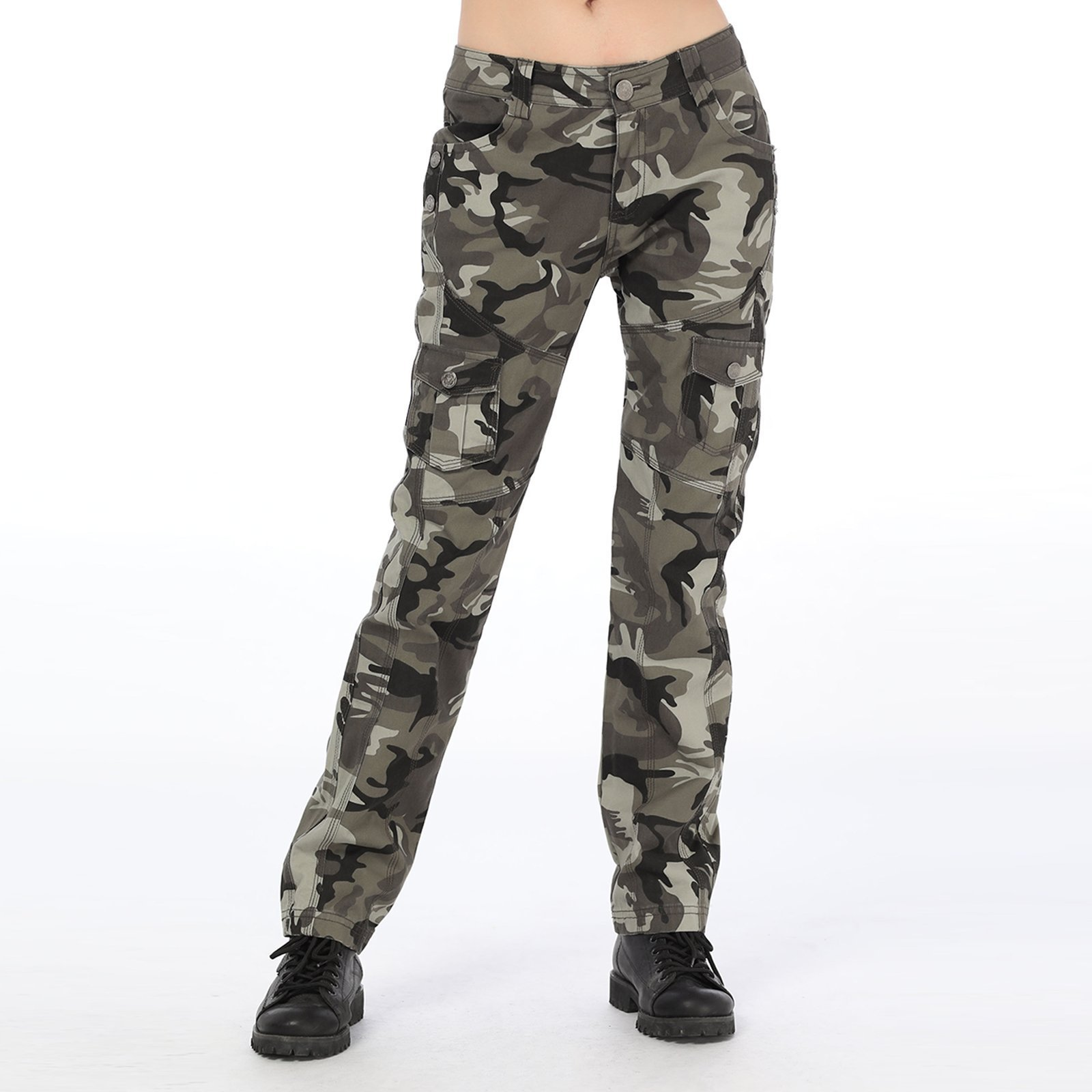 MEXUER Women Long Pants Camo Army Loose Military Style Pants for Outdoor Sports by MEXUER